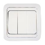 Выключатель 3кл с/п белый Makel 22091