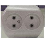 Розетка 2РС16-002 2мест с/п мрамор 2640УП