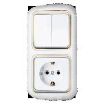 Блок 2В-РЦ-497 белый с золотой вставкой 2кл з/к