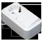 Блок 2В-РЦ-529 2кл.+роз.зк белый Светоприбор