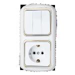 Блок 3В-РЦ-499 белый с золотой вставкой 3кл з/к