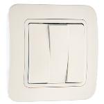Выключатель 3кл с/п белый Makel 71091
