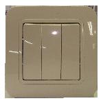 Выключатель 3клавишный с/п кремовый Makel 71291