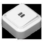 Выключатель А510-215 2кл с подсветкой о/п белый Светоприбор
