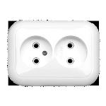 Розетка РС16-237 2мест с/п белая Светоприбор