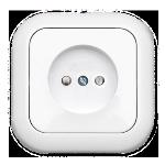 Розетка РС16-252 1мест с/п со шторками белая Светоприбор