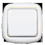 Выключатель С16-158 белый с золотой втавкой 1кл