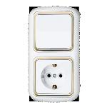 Блок В-РЦ-495 белый с золотой вставкой 1кл з/к